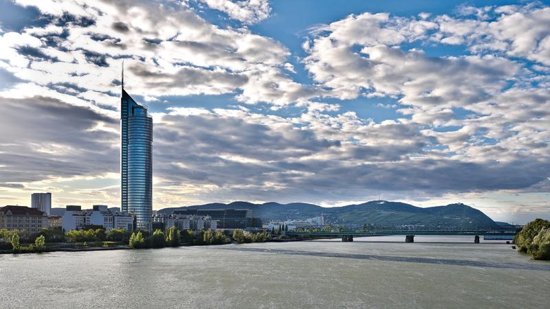 Similio Wien-Donau-Panorama Nordostliches-Flach-und-Hugelland