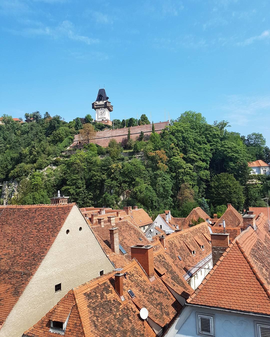 Blick auf den Grazer Schlossberg