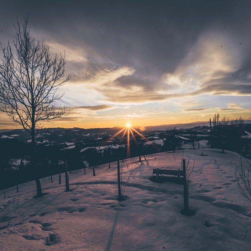Panorama im Sonnenuntergang