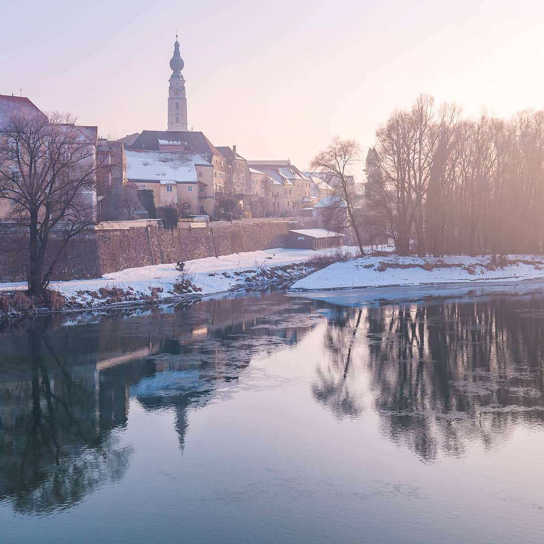 Braunau am Inn im Winter