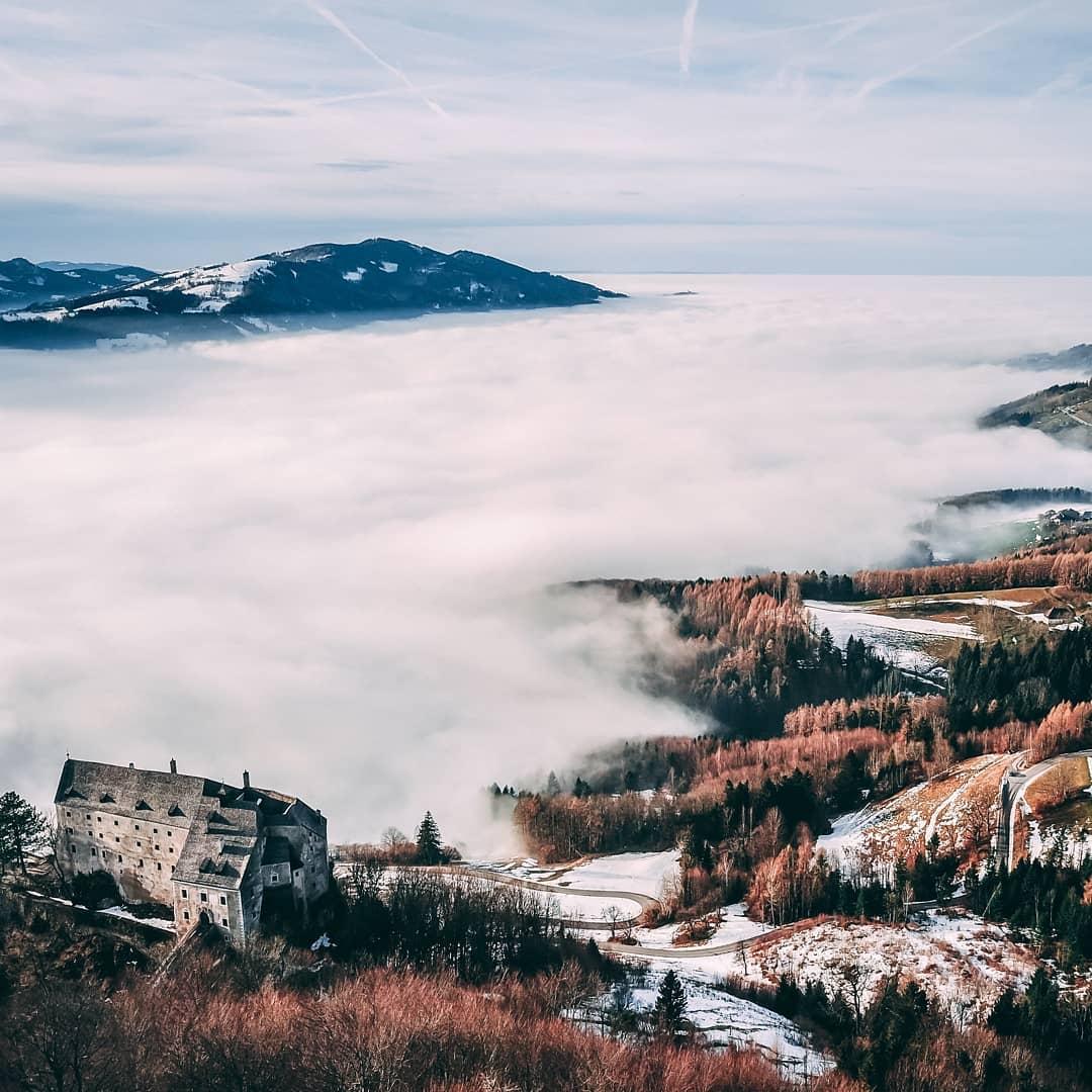 Fog landscape near Micheldorf