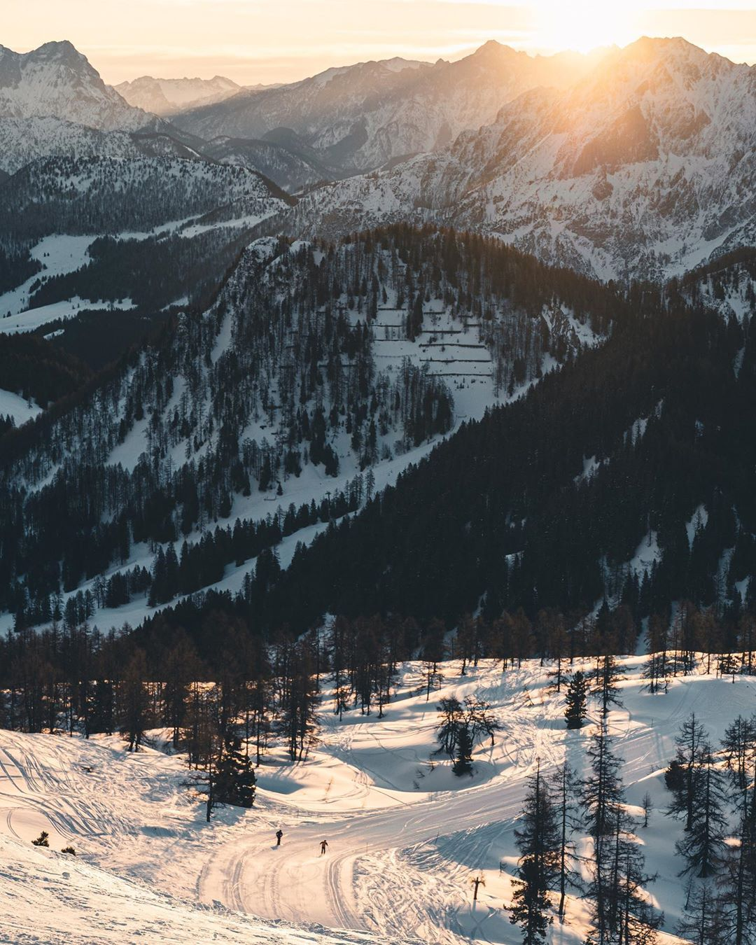 Winterliche Landschaft rund um die Wurzeralm