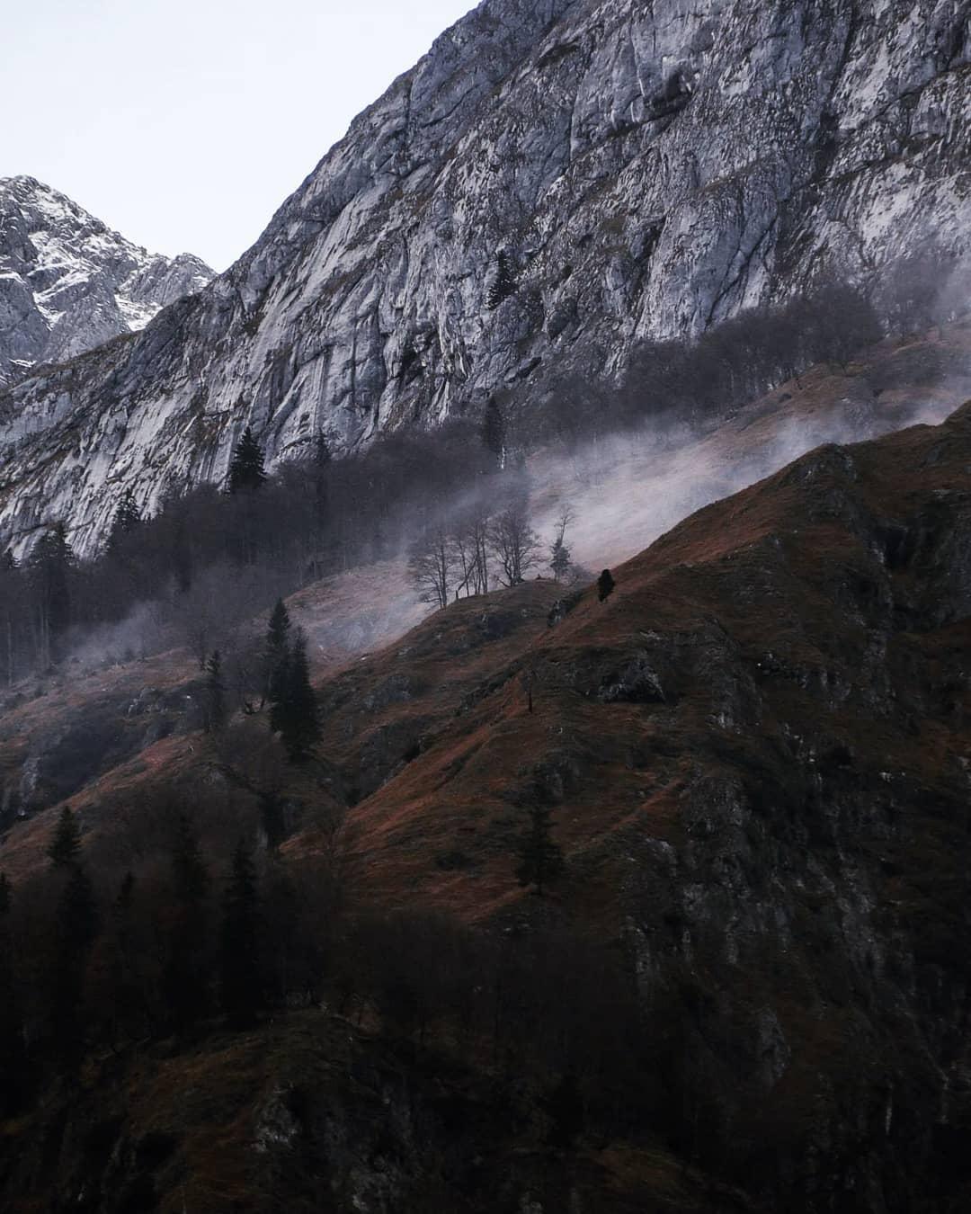 Alpine Landschaft im Bluntautal