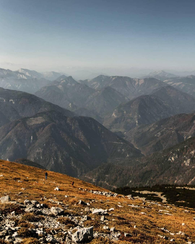 Bergpanorama rund um den Schneeberg