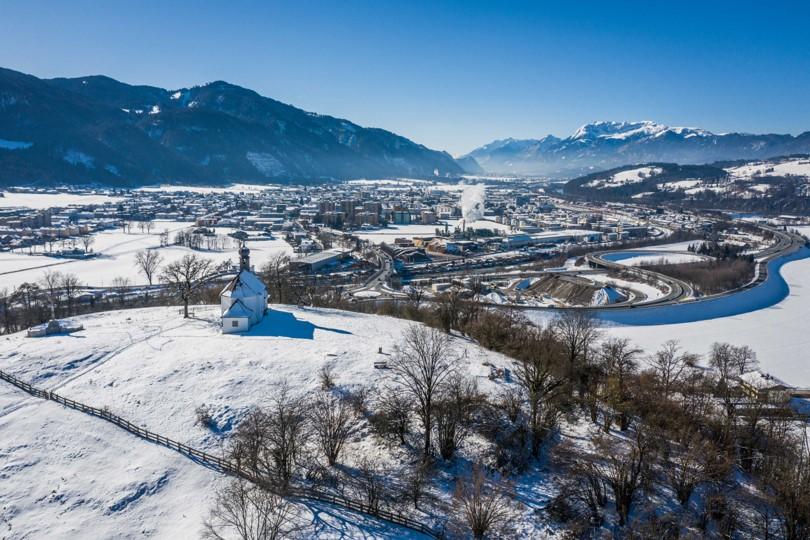 Ein wundervolle winterliche Landschaft in Wörgl