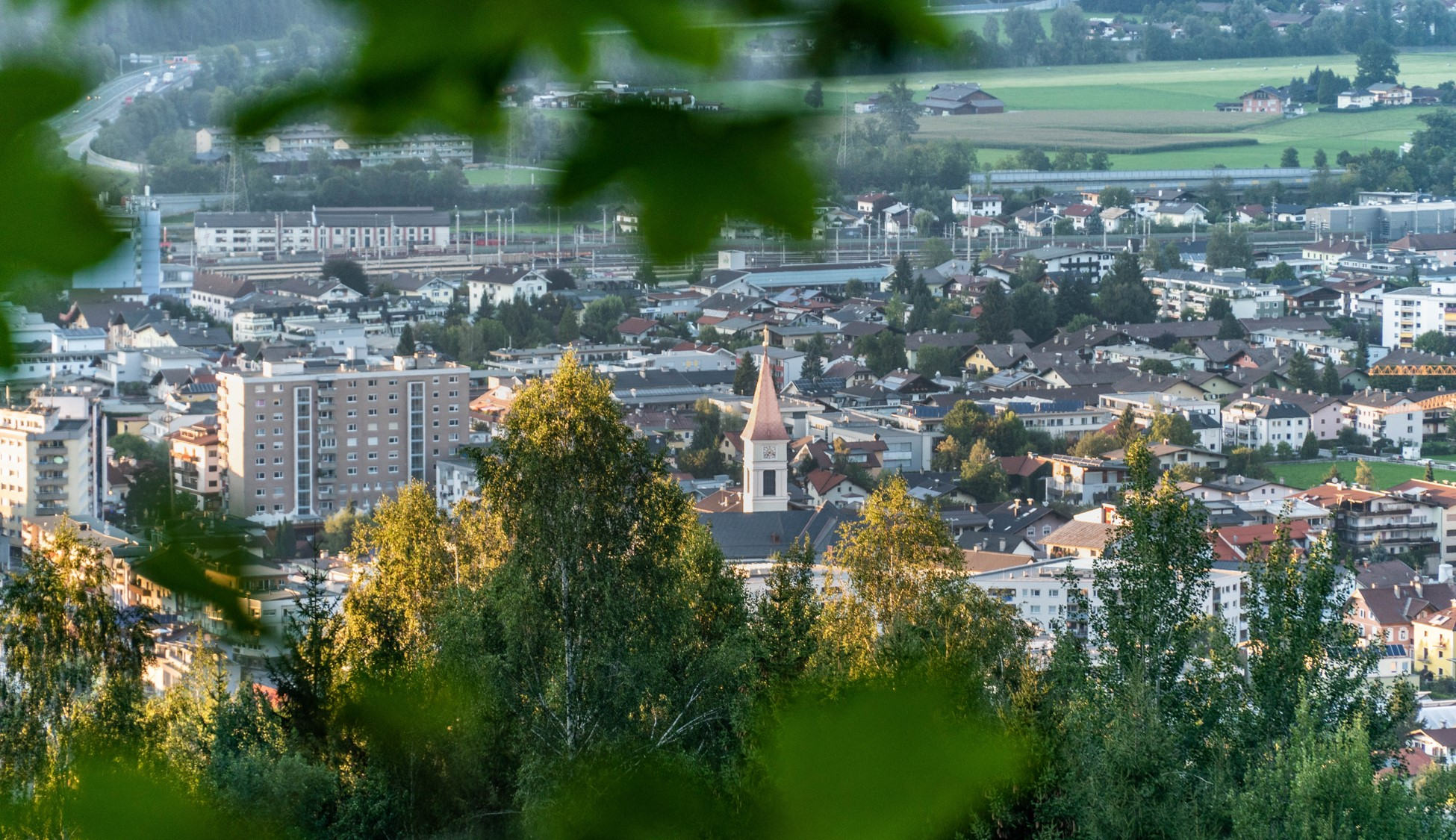 Blick auf Wörgl vom Hennersberg