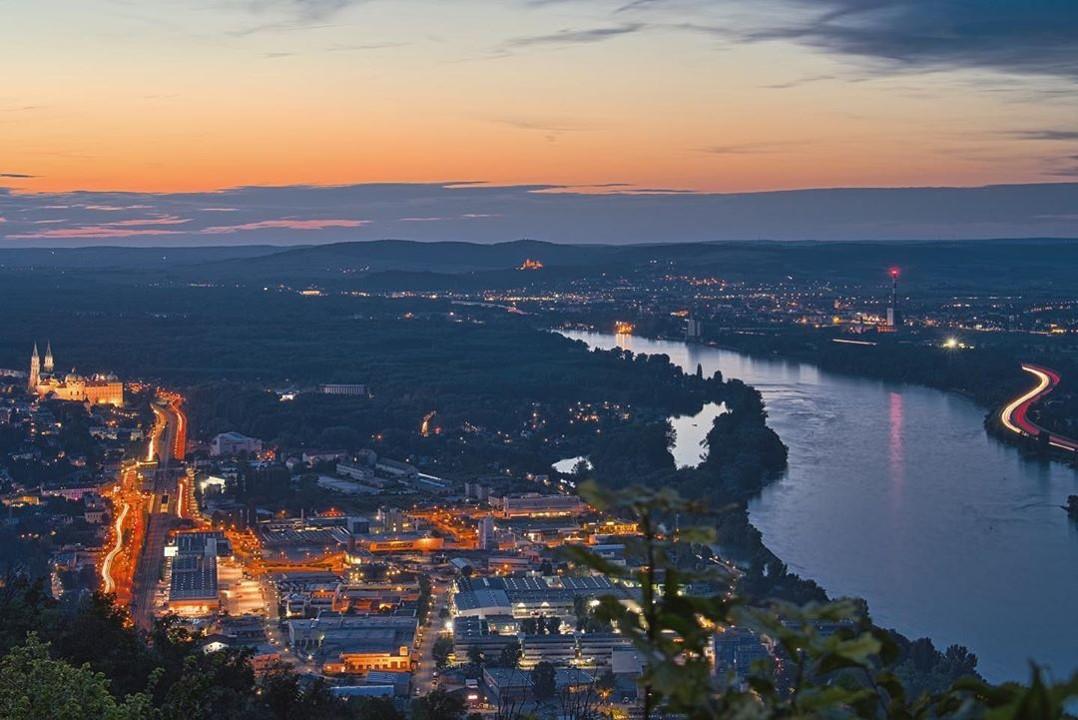 Panorama vom Leopoldsberg