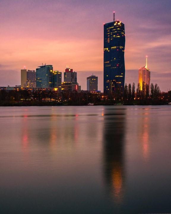 Skyline in der Donaustadt