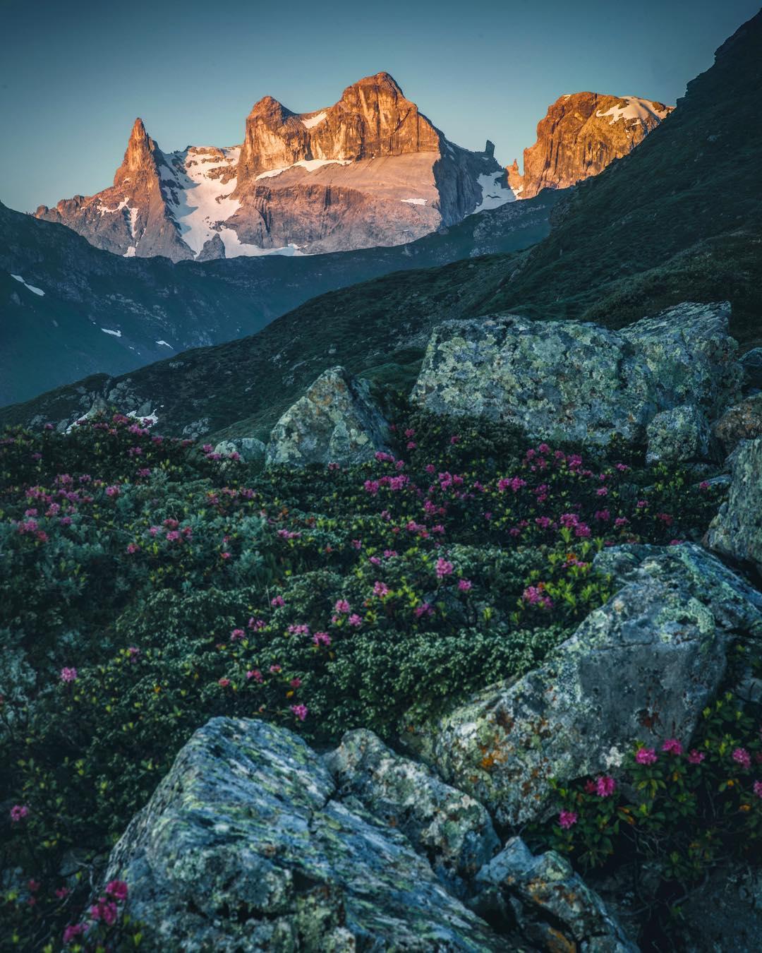 The three towers, adventure mountain Golm Montafon