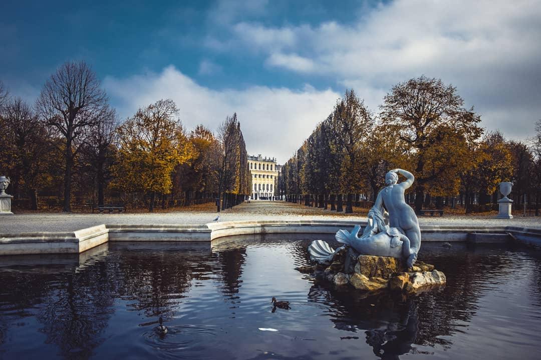 Brunnen im Schlosspark von Schönbrunn
