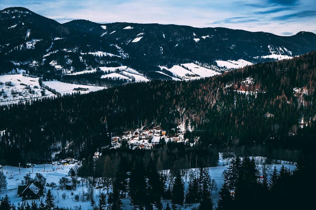 Winter landscape at the Stuhleck