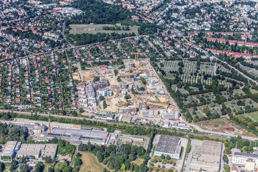 Зона городской застройки в Вильдгартене в Майдлинге