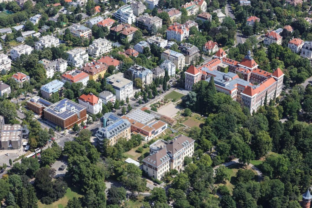 Blick auf die Universität für Bodenkultur in Währing