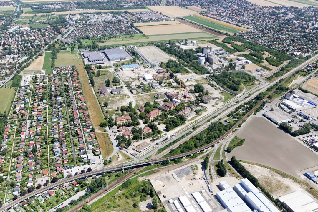 Luftbildaufnahme von Floridsdorf
