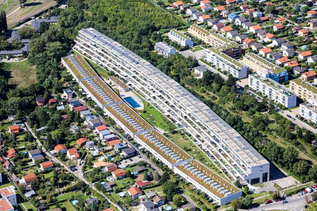 Luftbildaufnahme der Gegend um die Odenburger Straße