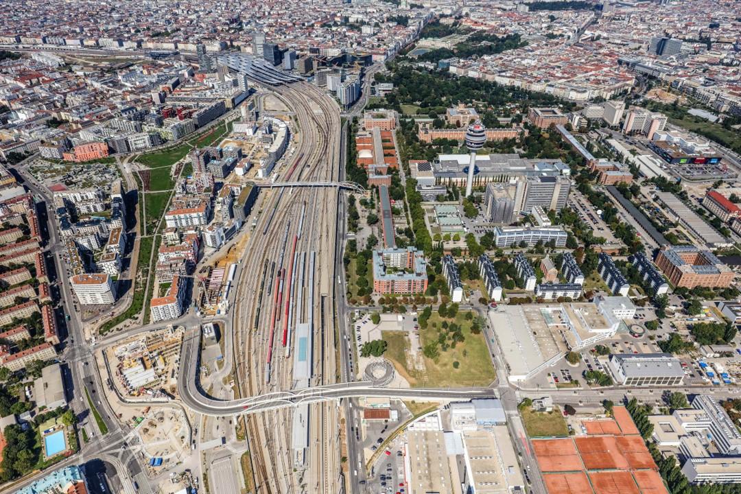 Район вокруг Центрального железнодорожного вокзала Вены