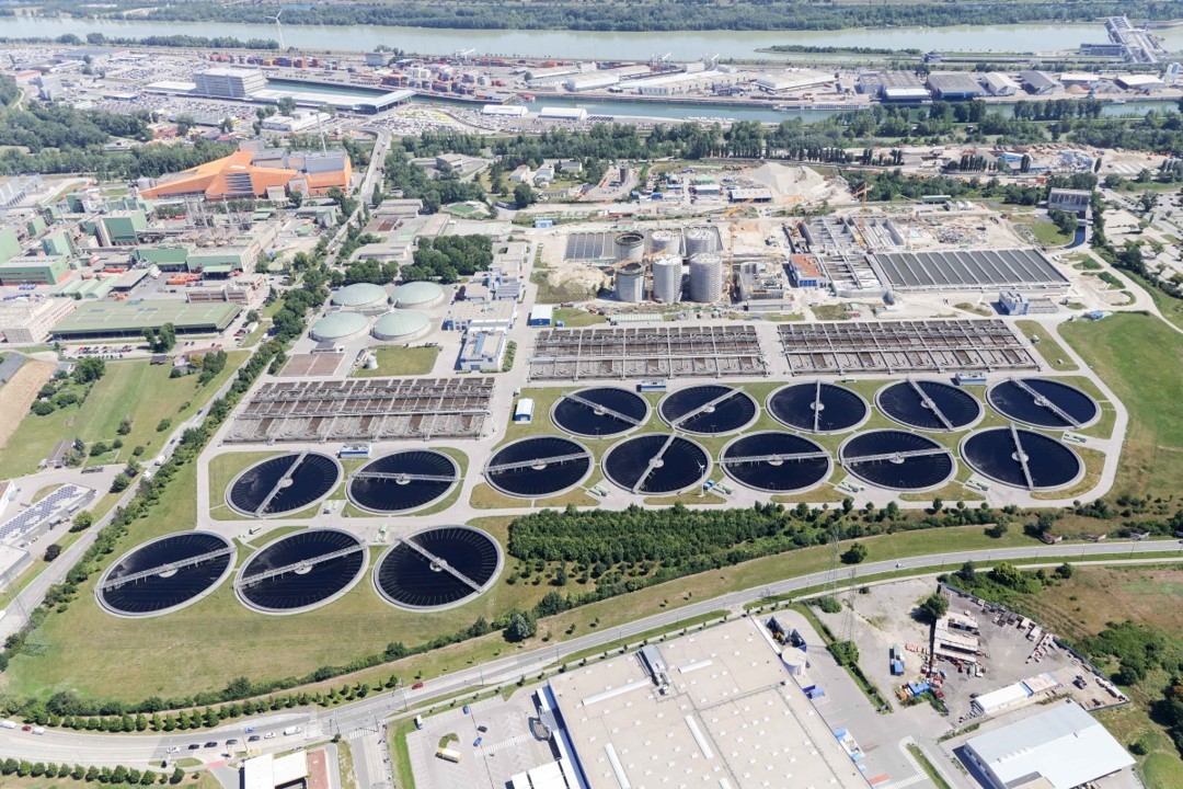 The main sewage treatment plant in Vienna, Simmering