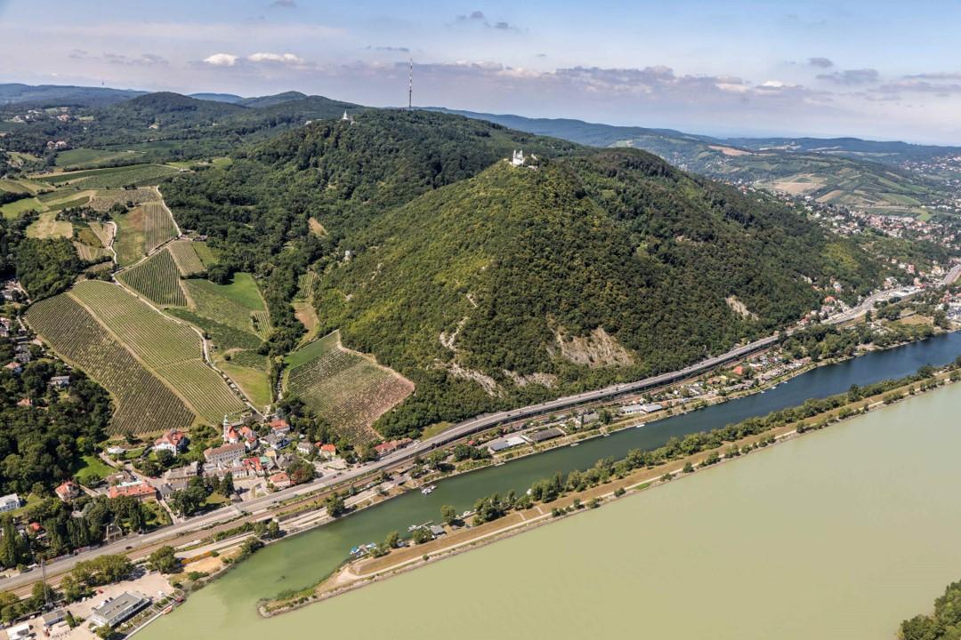 Blick auf den Kahlenberg in Wien, Döbling