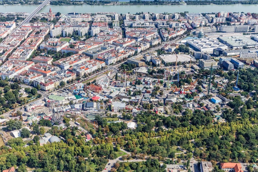 Аэрофотоснимок Венского Пратера во 2-ом районе