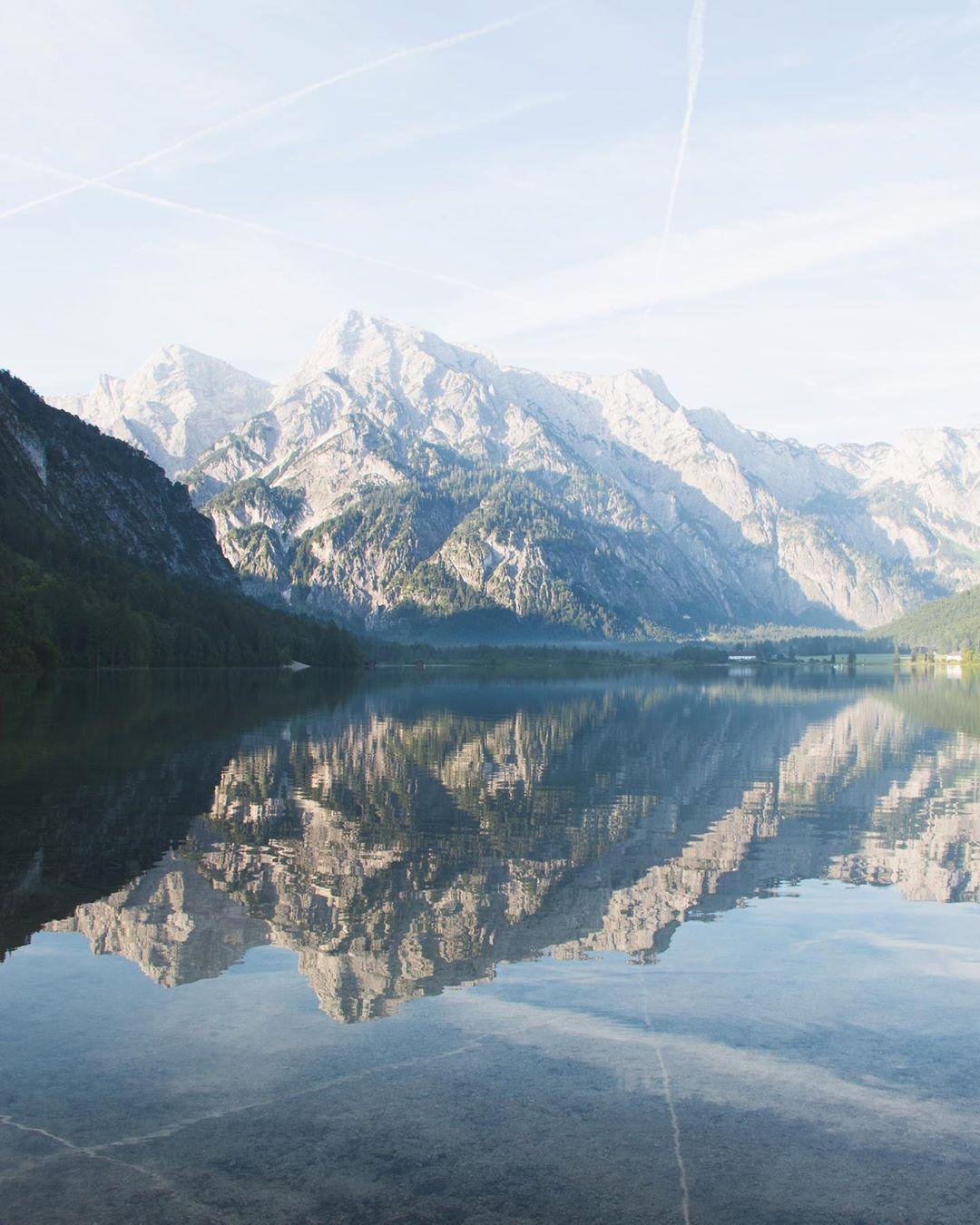 Alm lake in Grünau im Almtal