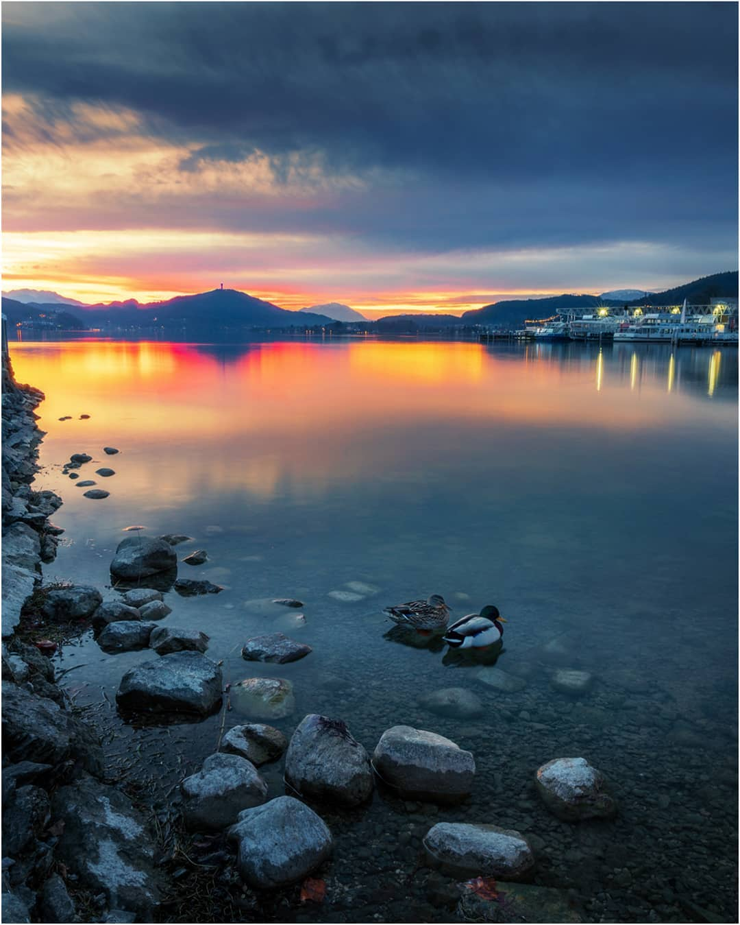 Sunset at Lake Woerthersee