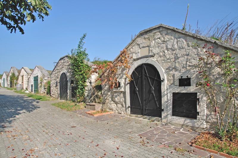 A typical wine cellar in Purbach, Burgenland