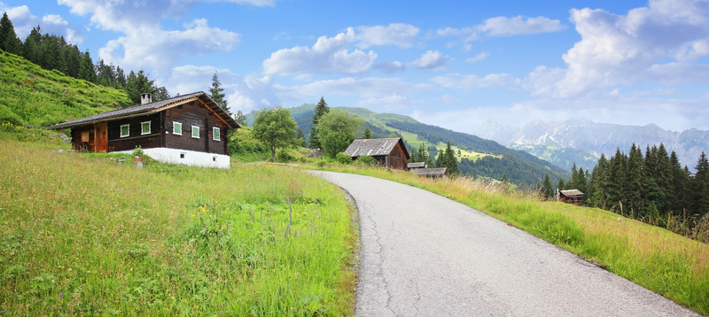 A mountain landscape in Montafon, Vorarlberg