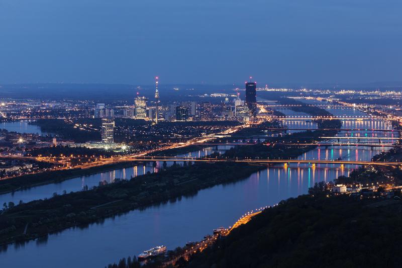 Die Donau in Wien