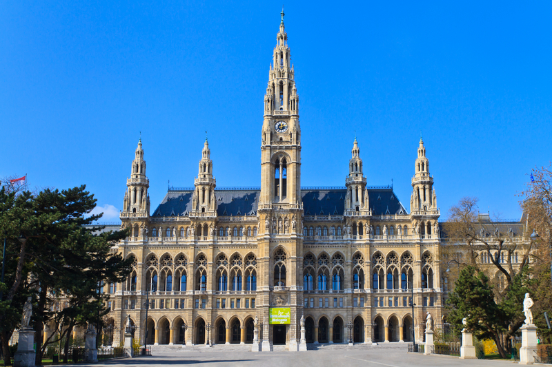 The Vienna City Hall on Vienna's Ringstrasse